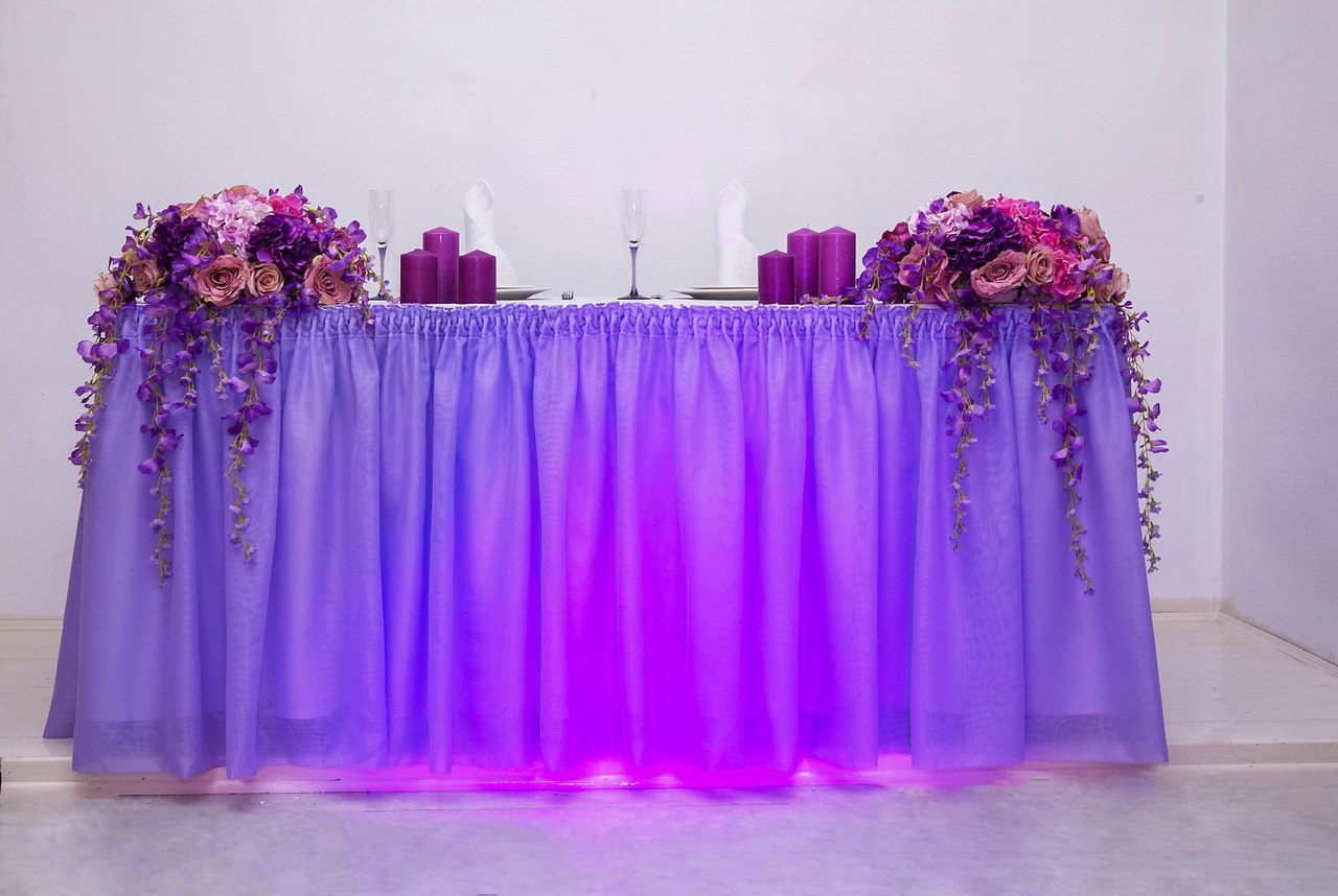 Свадьба в фиолетовом цвете молодожены фото